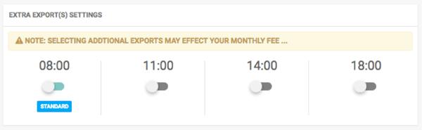 Pricewatch export times - 4 runs
