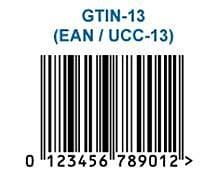 Een voorbeeld van een GTIN-13 barcode