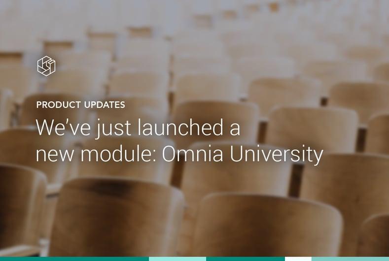 Product Announcement: Omnia University