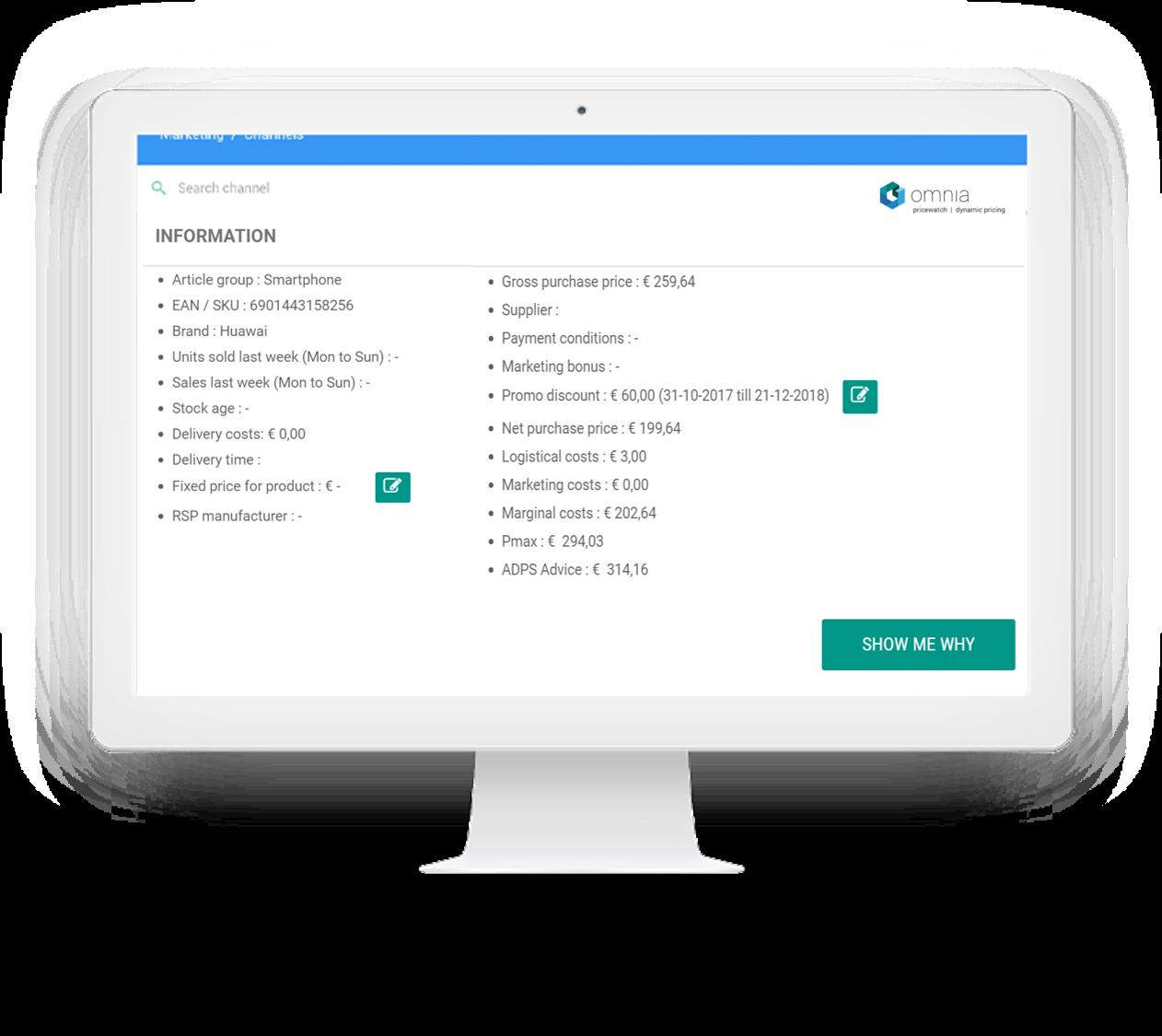 Omnia Dynamic Pricing - Transparante Tool
